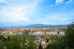 Sikt av Florence, Tuscany, Italien Royaltyfri Foto