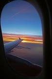 Sikt av flyget Arkivbild