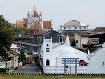 Sikt av fortet Galle, Sri Lanka Royaltyfria Bilder