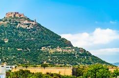 Sikt av fortet Santa Cruz i Oran, Algeriet royaltyfri bild