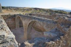 Sikt av Fortezzs fästning. Rethymno. Ö av Kreta Royaltyfria Foton
