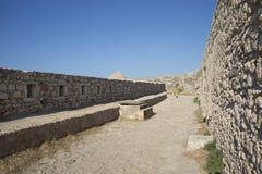 Sikt av Fortezzs fästning. Rethymno. Ö av Kreta Royaltyfri Fotografi