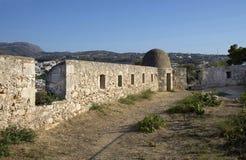 Sikt av Fortezzs fästning. Rethymno. Ö av Kreta Fotografering för Bildbyråer
