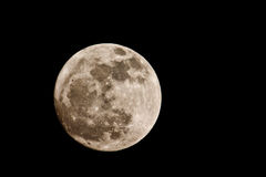 Sikt av fullmånen från sydlig halvklot Arkivfoton