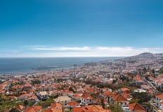 Sikt av Funchal Arkivfoto