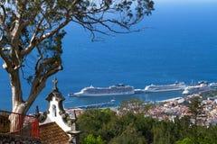Sikt av Funchal från Monten Madeiraö, Portugal Royaltyfri Fotografi