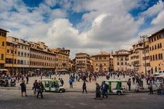 Sikt av fyrkanten i Florence royaltyfri bild