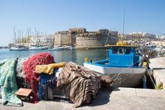 Sikt av Gallipoli den gamla staden royaltyfri foto