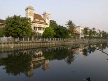 Sikt av gamla Jakarta Arkivbild