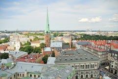 Sikt av gammala Riga Fotografering för Bildbyråer