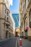 Sikt av gatan för 20 Fenchurch Royaltyfri Bild