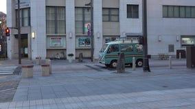 Sikt av gatan i Nagano, Japan stock video