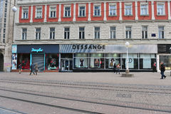 Sikt av gatan i stadsmitt av Zagreb Royaltyfri Fotografi