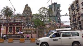 Sikt av gatan i Yangon, Myanmar arkivfilmer