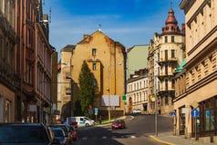 Sikt av gatorna arkivfoto