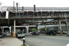 Sikt av gatorna i Bronxen royaltyfri bild