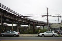 Sikt av gatorna i Bronxen Arkivbilder