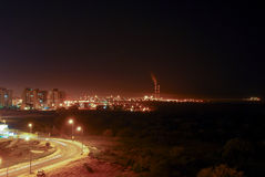 Sikt av Gaza från Israel royaltyfria bilder