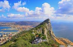 Sikt av Gibraltar Royaltyfria Foton