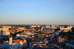 Sikt av Gliwicen i Polen Arkivbilder