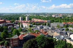 Sikt av Gliwicen i Polen Royaltyfria Bilder