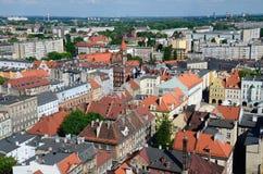 Sikt av Gliwicen i Polen Royaltyfri Fotografi