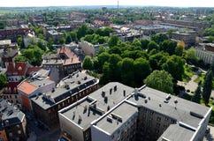 Sikt av Gliwicen i Polen Fotografering för Bildbyråer