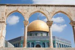 Sikt av Goldenet Dome i Jerusalem Royaltyfri Foto