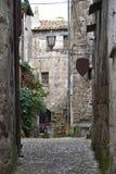 Sikt av gränden i den historiska mitten Fotografering för Bildbyråer