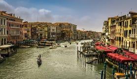 Sikt av Grand Canal i Venedig arkivfoto