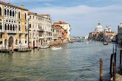 Sikt av Grand Canal, Venedig, Italien fotografering för bildbyråer