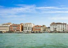 Sikt av Grand Canal, Venedig, Italien Royaltyfri Foto