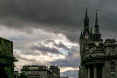 Sikt av granitstaden av Aberdeen i Skottland Royaltyfri Foto