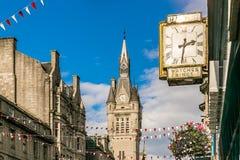 Sikt av granitstaden av Aberdeen i Skottland Royaltyfria Bilder