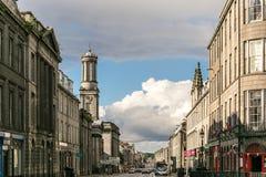 Sikt av granitstaden av Aberdeen i Skottland Fotografering för Bildbyråer