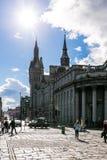 Sikt av granitstaden av Aberdeen i Skottland Arkivbild