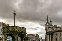 Sikt av granitstaden av Aberdeen i Skottland Arkivfoto