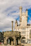 Sikt av granitstaden av Aberdeen i Skottland Royaltyfri Fotografi