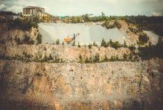 Sikt av granitvillebrådet Arkivbilder