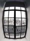 Sikt av grannskapen Arkivbild