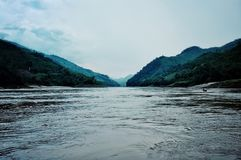 Sikt av Greatet Mekong River royaltyfria foton