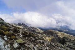 Sikt av höga Tatra Arkivfoto
