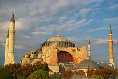 Sikt av Hagia Sophia, Istanbul, Turkiet Arkivbilder