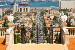 Sikt av Haifa arkivfoton