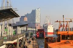 Sikt av Hamburg royaltyfria bilder