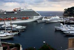 sikt av hamnen i Monte Carlo Monaco France Royaltyfri Foto