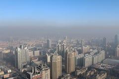 Sikt av Harbin från en höjd Royaltyfri Fotografi