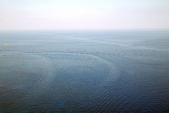 Sikt av havet från himlen Royaltyfri Bild