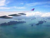 Sikt av havet och öar fotografering för bildbyråer