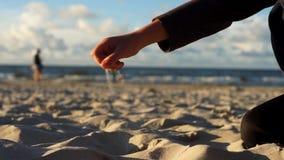 Sikt av havet, vågor arkivfilmer